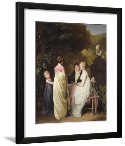 Conversation Dans Un Parc-Louis Leopold Boilly-Framed Art Print