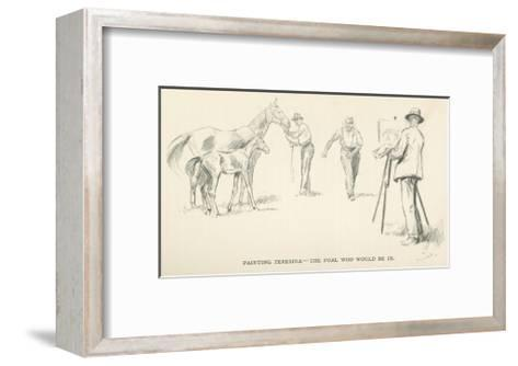 Painting Teresma - The Foal who would be in-Lionel Edwards-Framed Art Print