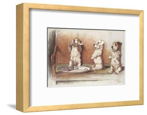 For What We Are About To Receive-Cecil Aldin-Framed Art Print