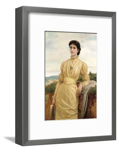 Portrait of a Lady, 1870-Charles Edward Perugini-Framed Art Print