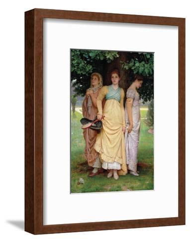 A Summer Shower-Charles Edward Perugini-Framed Art Print