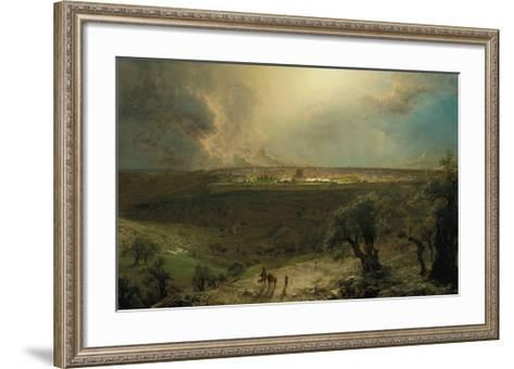 Jerusalem from the Mount of Olives-Frederic Edwin Church-Framed Art Print