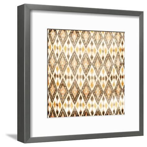Cream Diamonds-Jace Grey-Framed Art Print