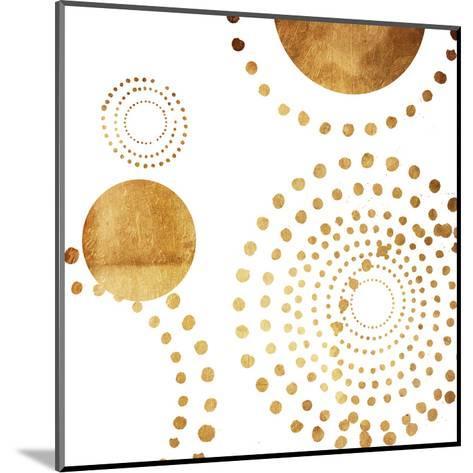 Golden Dots-Jace Grey-Mounted Art Print