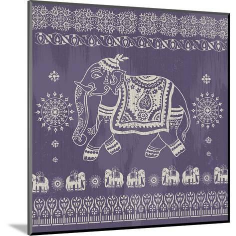 Boho Elephant Purple-Ophelia & Co.-Mounted Art Print