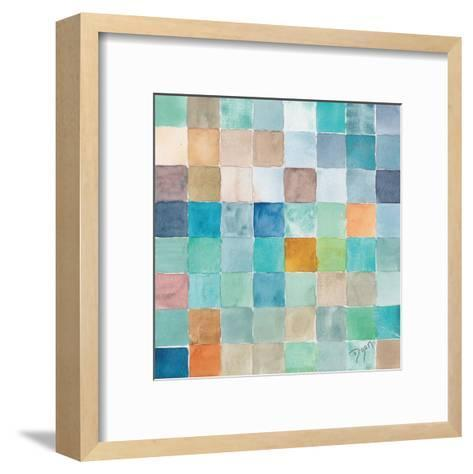 Color BLock Blue Story-Beverly Dyer-Framed Art Print