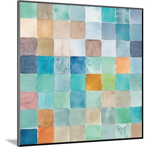 Color BLock Blue Story-Beverly Dyer-Mounted Art Print