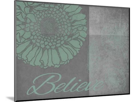 Floral Believe 6-Tina Carlson-Mounted Art Print