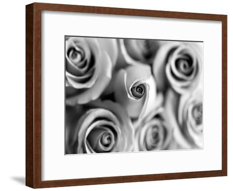 Monotone Bouquet-Tracey Telik-Framed Art Print