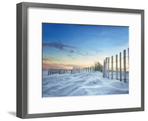 Fenced Sunset-Joseph Rowland-Framed Art Print