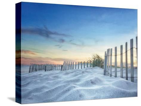 Fenced Sunset-Joseph Rowland-Stretched Canvas Print