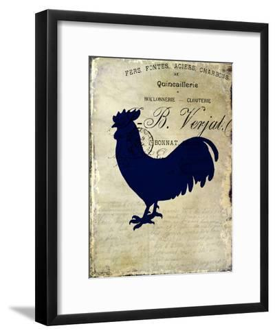 Rooster Silhouette 2-Kimberly Allen-Framed Art Print
