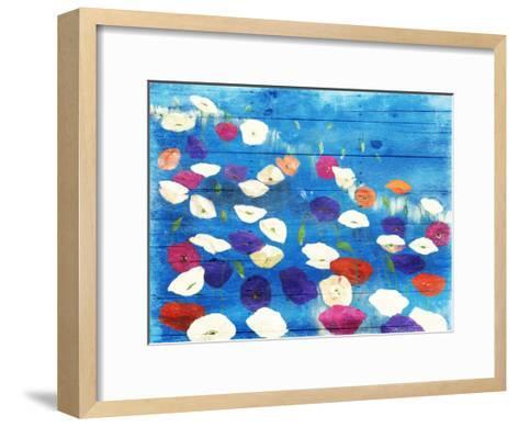 Patch Of Colors-Jace Grey-Framed Art Print