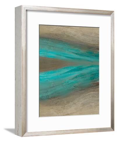 Turquoise Stream 2-Kimberly Allen-Framed Art Print