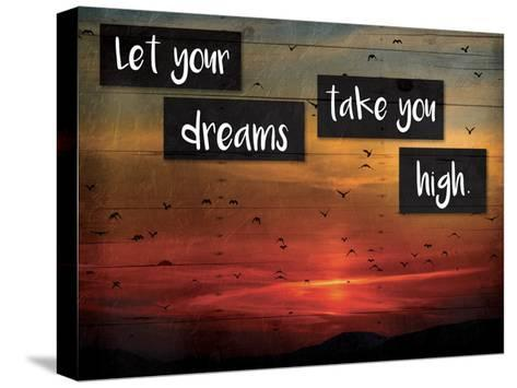 Take You High-Jace Grey-Stretched Canvas Print