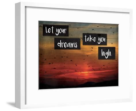 Take You High-Jace Grey-Framed Art Print