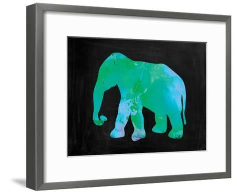 The Turquoise Elephant-Victoria Brown-Framed Art Print