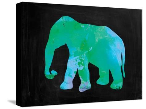 The Turquoise Elephant-Victoria Brown-Stretched Canvas Print