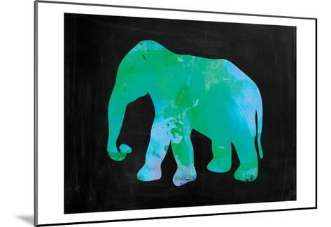 The Turquoise Elephant-Victoria Brown-Mounted Art Print