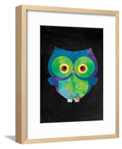 Owl-Victoria Brown-Framed Art Print
