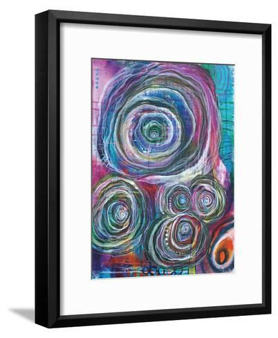Circular Abstraction-Pam Varacek-Framed Art Print
