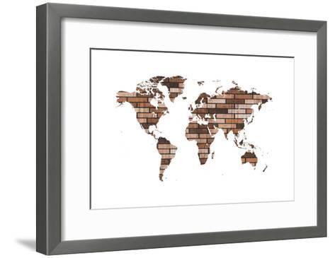 Map Your Adventures 2-Sheldon Lewis-Framed Art Print