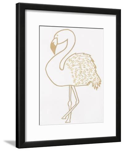 Golden Flamingo-Pam Varacek-Framed Art Print