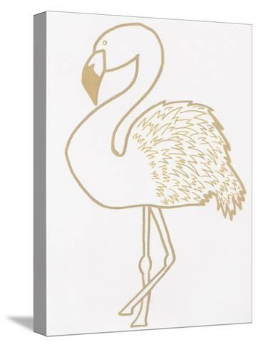 Golden Flamingo-Pam Varacek-Stretched Canvas Print
