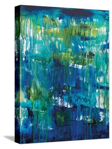 Water Abstraction-Pam Varacek-Stretched Canvas Print
