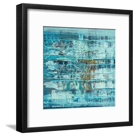 Turquoise Abstract--Framed Art Print