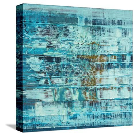 Turquoise Abstract--Stretched Canvas Print