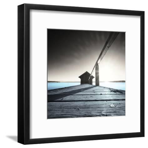 Old Boathouse--Framed Art Print