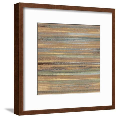 Ochre And Grey Abstract Ii.-Inuit-Framed Art Print