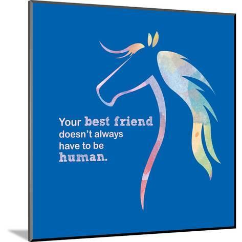 Horse Quote 11-Sports Mania-Mounted Art Print