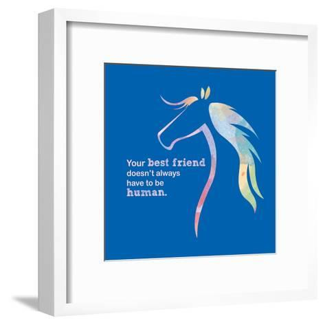 Horse Quote 11-Sports Mania-Framed Art Print