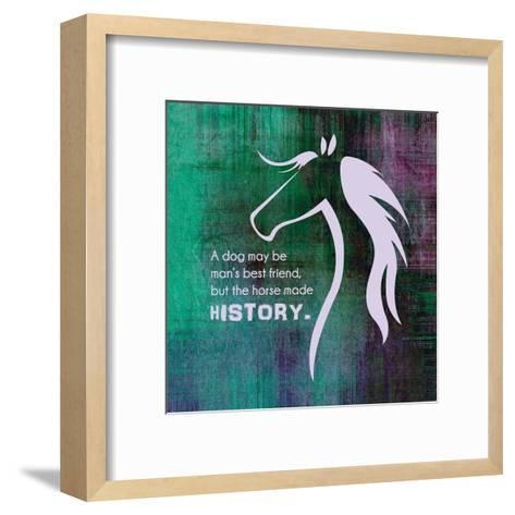 Horse Quote 13-Sports Mania-Framed Art Print