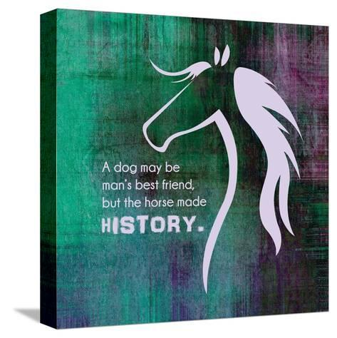 Horse Quote 13-Sports Mania-Stretched Canvas Print