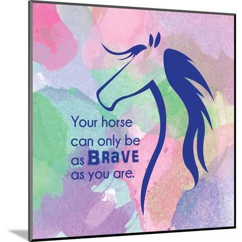 Horse Quote 14-Sports Mania-Mounted Art Print