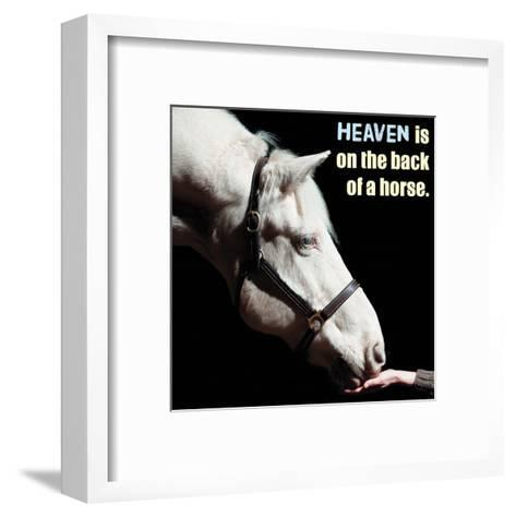 Horse Quote 9-Sports Mania-Framed Art Print