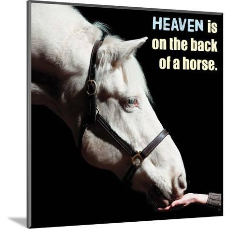Horse Quote 9-Sports Mania-Mounted Art Print