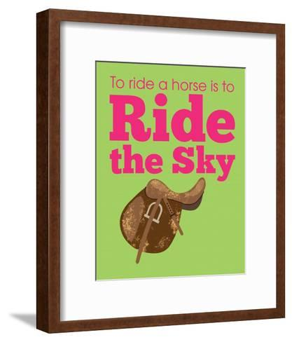 Ride the Sky-Sports Mania-Framed Art Print