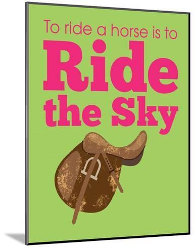 Ride the Sky-Sports Mania-Mounted Art Print