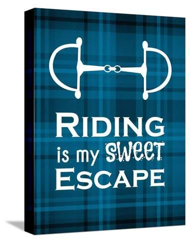 Riding is My Sweet Escape - Blue-Sports Mania-Stretched Canvas Print