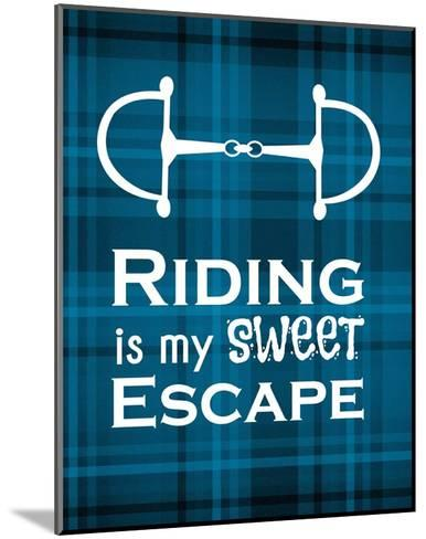 Riding is My Sweet Escape - Blue-Sports Mania-Mounted Art Print