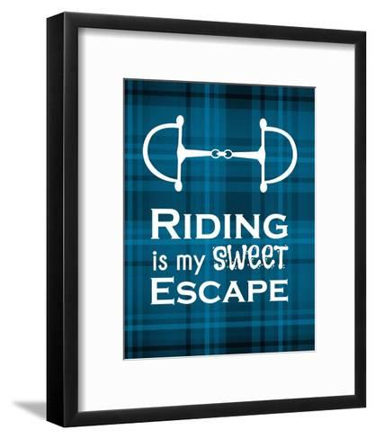 Riding is My Sweet Escape - Blue-Sports Mania-Framed Art Print