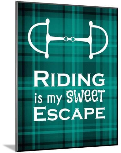 Riding is My Sweet Escape - Green-Sports Mania-Mounted Art Print