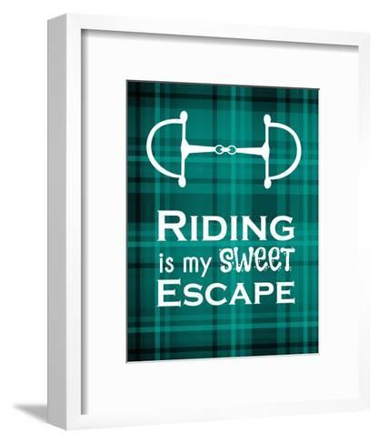 Riding is My Sweet Escape - Green-Sports Mania-Framed Art Print