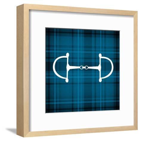 Horse Bit - Blue Checkered-Sports Mania-Framed Art Print