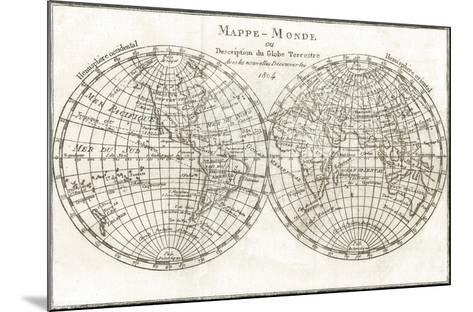 Mappemonde-Stephanie Monahan-Mounted Giclee Print
