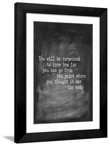 Chalk Type - The End-Stephanie Monahan-Framed Art Print